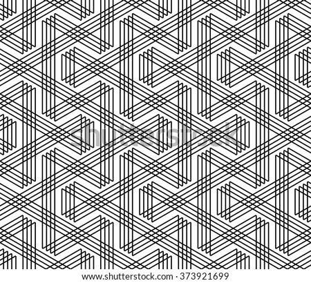 Seamless zigzag lines pattern. Geometric texture. Vector art. - stock vector