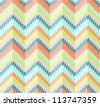Seamless zigzag pattern - stock vector