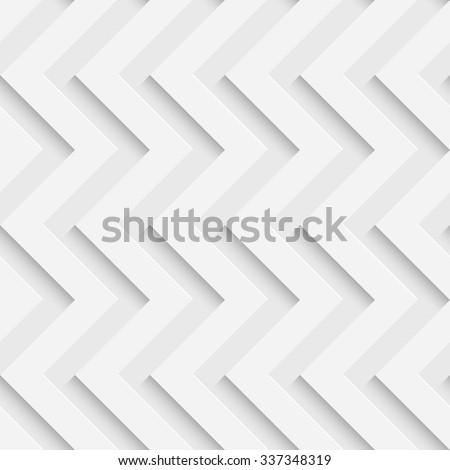 Seamless ZigZag Pattern. Vector Soft Background. Regular White Texture - stock vector