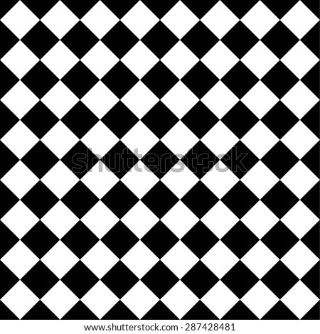 Seamlessly repeatable vector pattern. Checkered (chequered) background with tilted squares. - stock vector