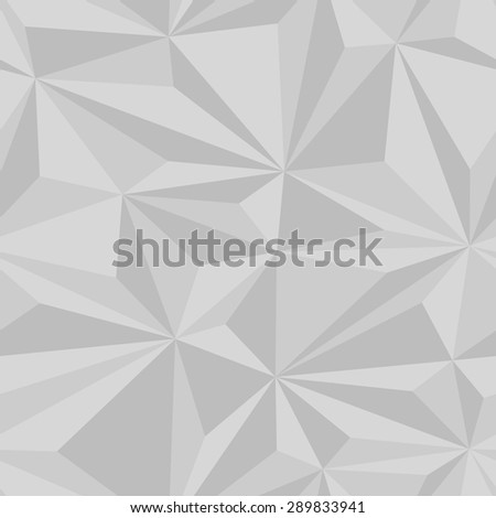 Seamlessly tiling background texture made of simple geometric triangles with 3d effects. - stock vector