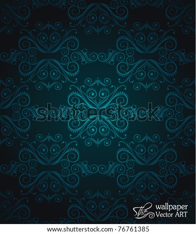Seamlessly Wallpaper with Dark Red and Orange ColoursTones - stock vector