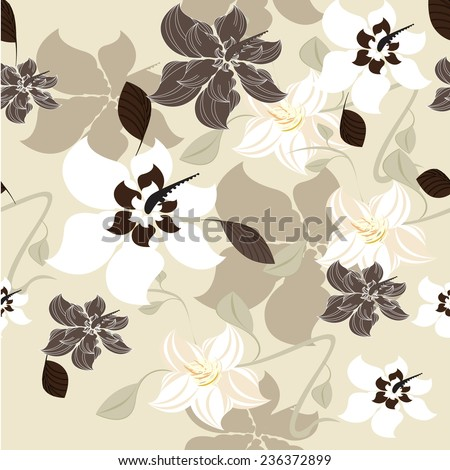 Seamples Vector flowers Floral  - stock vector