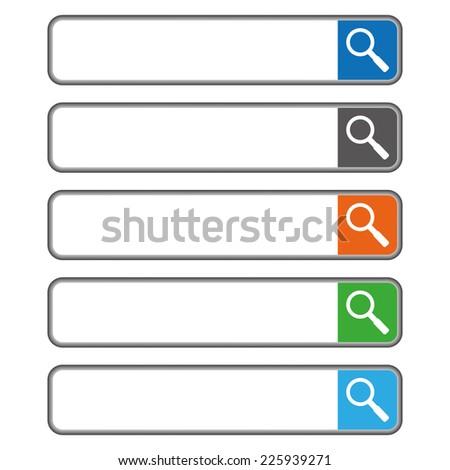 Search Bar - stock vector