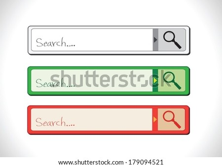 search bar search templates  - stock vector