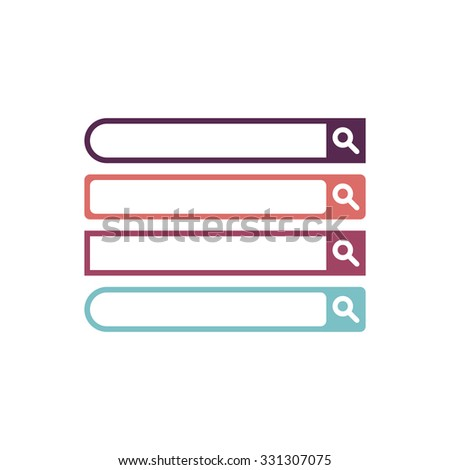 Search bars. Flat web design elements. Templates for interface - stock vector