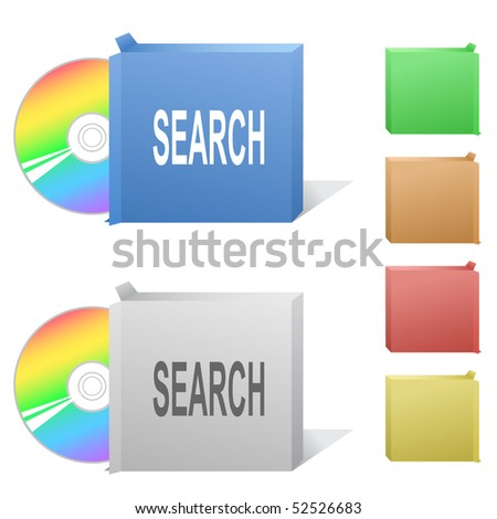 Search. Box with compact disc.