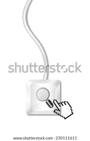 Search Button - stock vector