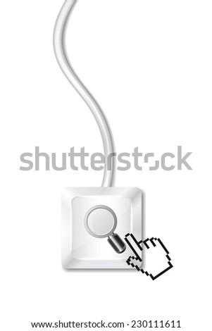 Search Button - stock vector