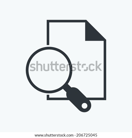 Search Documents Icon - stock vector