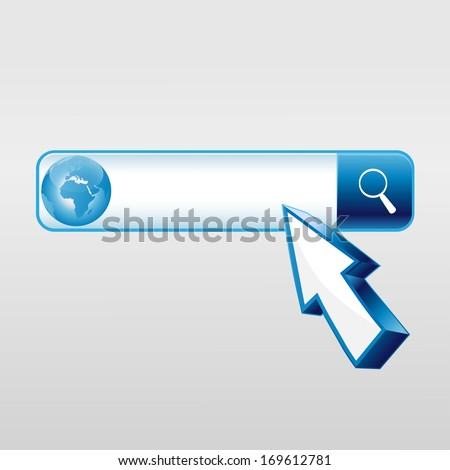 search engine and mouse cursor - stock vector