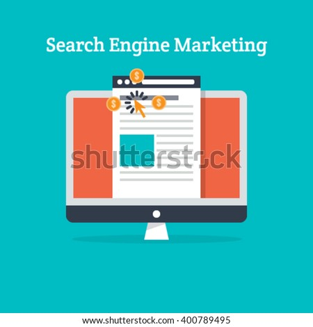 Search Engine Marketing Vector - stock vector