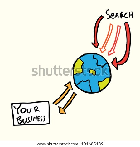 search engine optimization for business - stock vector