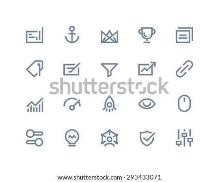 Search engine optimization icons. Line series - stock vector