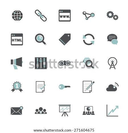 Search Engine Optimization Information Content Icon Concept - stock vector