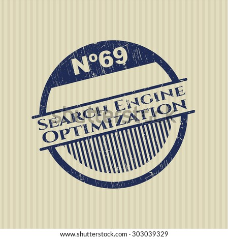 Search Engine Optimization rubber grunge seal