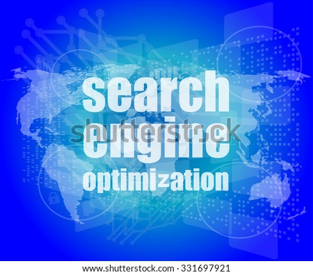Search Engine Optimization - SEO Sign in Browser Window vector illustration - stock vector