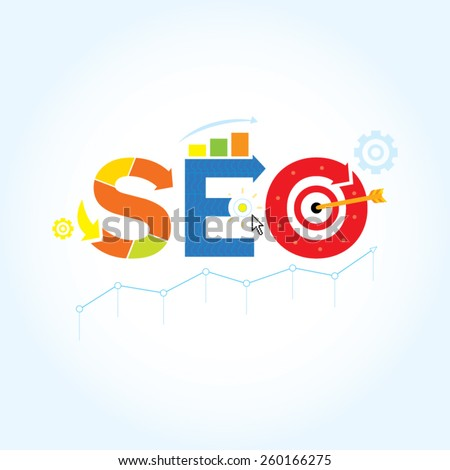 Search engine optimization ( SEO ) vector illustration concept.  - stock vector
