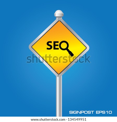 Search engine signpost,vector