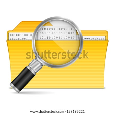 Search file icon, vector eps10 illustration - stock vector