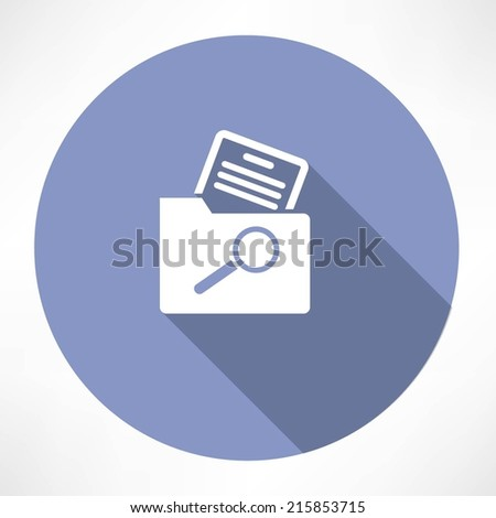 search for a document in the folder icon - stock vector