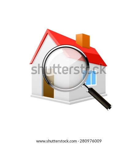 search for home icon - stock vector