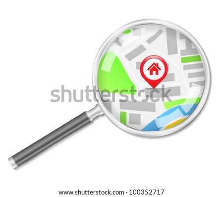 Search for house concept, vector eps10 illustration
