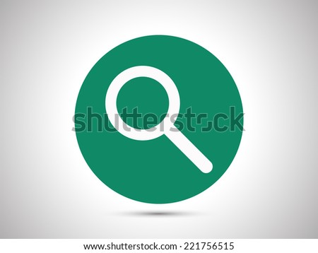 search icon - stock vector