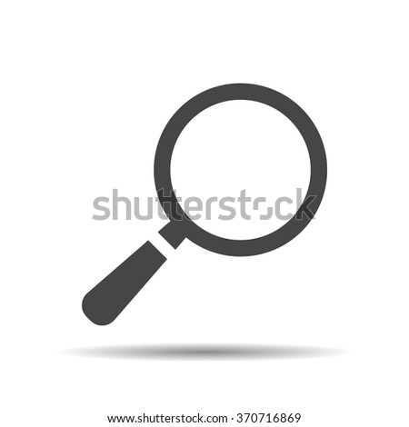 search icon flat, search icon design, search icon web, vector magnifying glass - stock vector