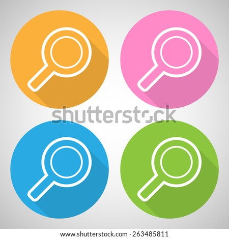search icon great for any use. Vector EPS10.  - stock vector