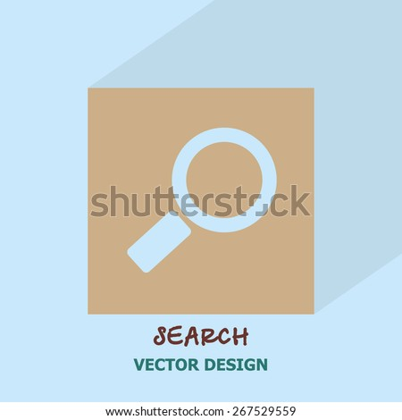 Search icon. Vector design. - stock vector