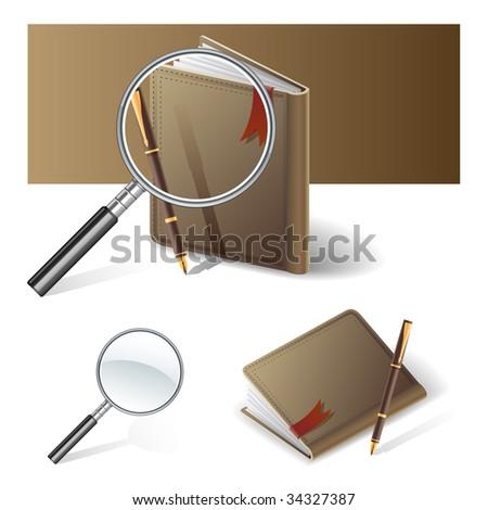 search info icon - stock vector