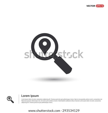 search location icon - abstract logo type icon - isometric white background. Vector illustration - stock vector