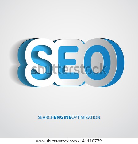 Search optimization concept sign in paper style - vector - stock vector