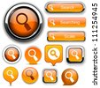 Search orange design elements for website or app. Vector eps10. - stock photo