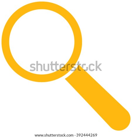Search Tool vector icon. Style is flat icon symbol, yellow color, white background.