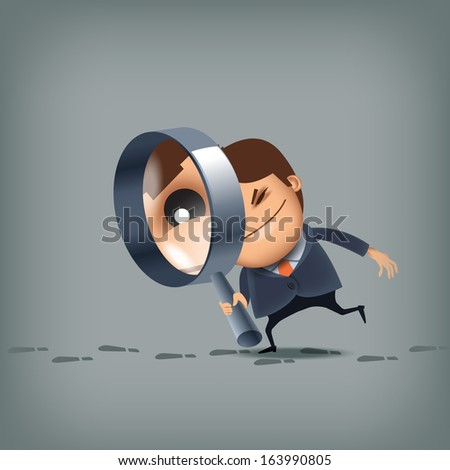 Search. Vector format - stock vector