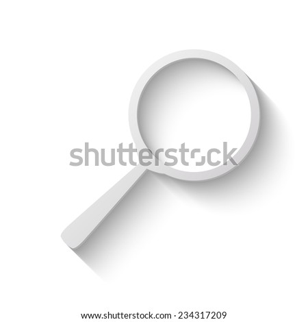 search vector icon - paper illustration  - stock vector