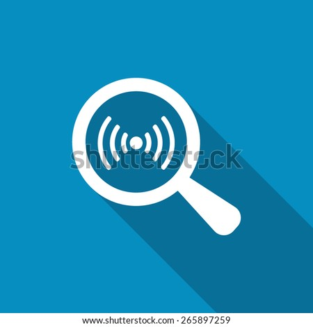 Search wi-fi connection flat icon - stock vector