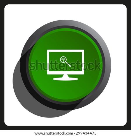 Search wi-fi network. icon. vector design - stock vector