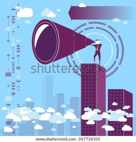 Searching / Brainstorming - vector concept - stock vector