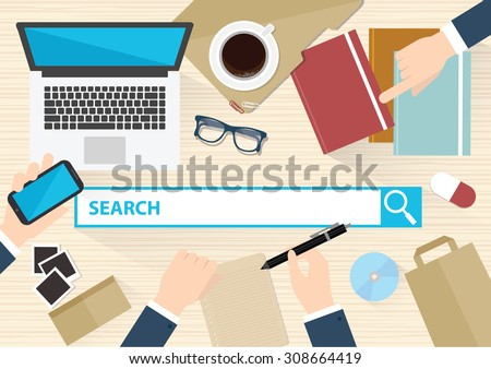 Searching concept design,clean vector - stock vector
