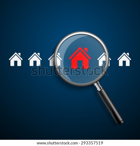 Searching for house of home.vector - stock vector