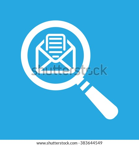 Searching The Message icon on a blue background - stock vector