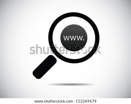 Searching Website - stock vector