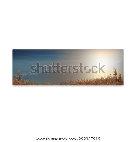 Seascape, vacation and travel. Concept of advertising tourist banner. Vector, EPS 10 - stock vector