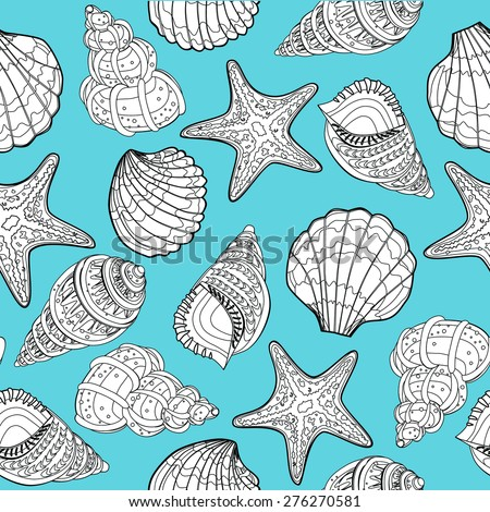 Seashell pattern - Illustration
