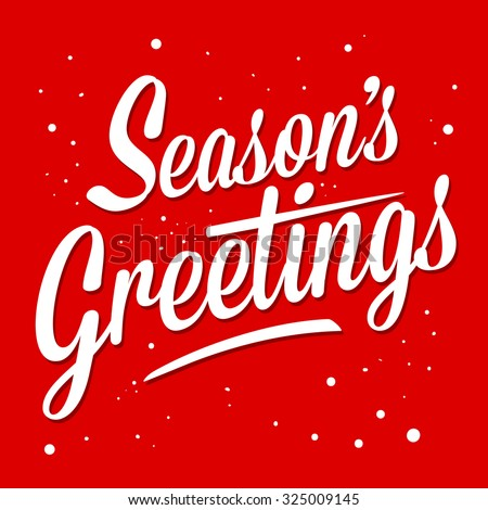 Season greetings typography art vector illustration - stock vector