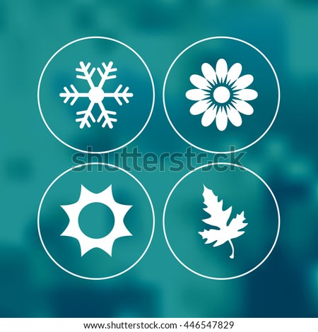 Season icons vector illustration. - stock vector