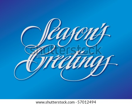 Season's Greetings Vector Lettering - stock vector